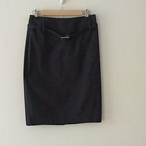 Rafaella dark gray denim design skirt size 4